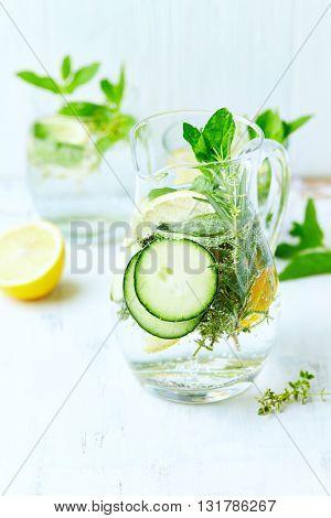 Cucumber and Lemon Detox Water