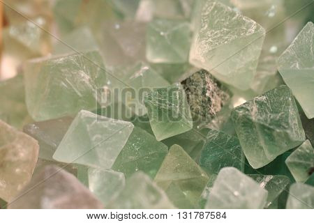 Fluorite Green Crystal Background