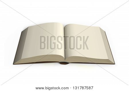 Book Opening Top View Isolated In White Background