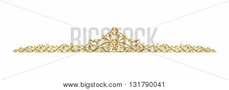 Ornament of gold plated vintage floral victorian Style