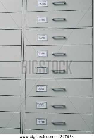 Archival Drawers In Academic Library