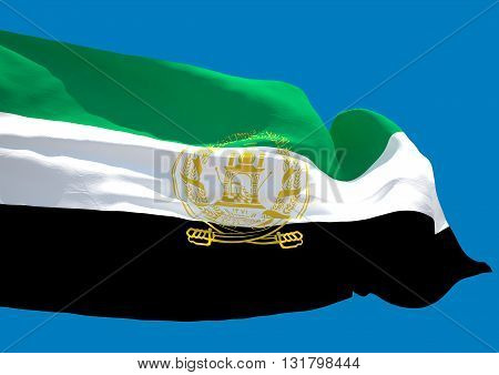 Afghanistan wave flag HD. Islamic Republic of Afghanistan