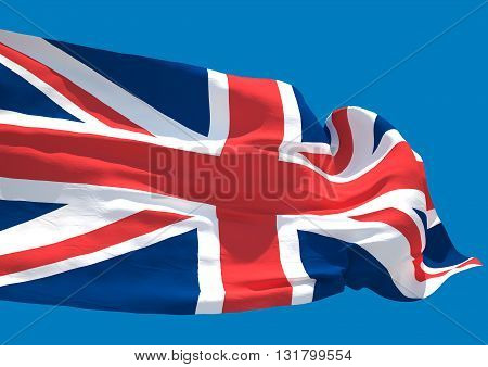 United Kingdom wave HD flag England United Kingdom of Great Britain and Northern Ireland poster