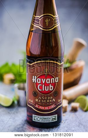 Cuban Mojito With Havana Club Rum.