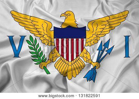 Waving Flag of the U.S. Virgin Islands