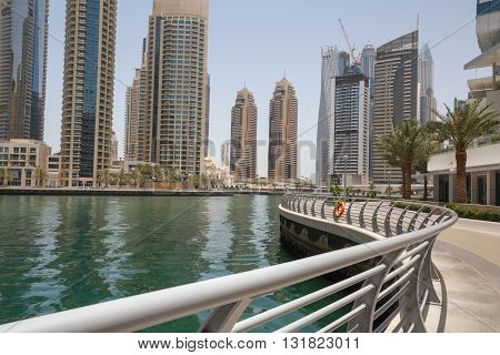 sight of district Marina in Dubai, UAE