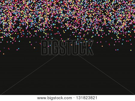 Abstract background with falling colorful confetti festival