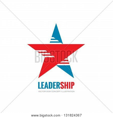 Leadership - vector logo concept illustration. Abstract star vector logo sign. USA star concept symbol. Decorative design element.