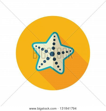 Starfish vector flat icon. Beach. Summer. Summertime. Vacation eps 10