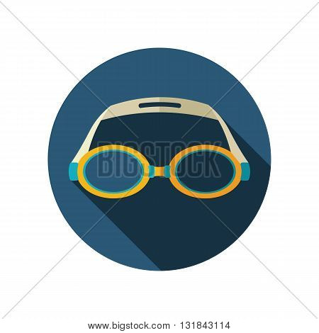 Swimming Goggles vector flat icon. Beach. Summer. Summertime. Vacation eps 10