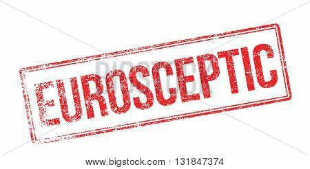 Eurosceptic Red Rubber Stamp On White