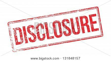Disclosure Red Rubber Stamp On White