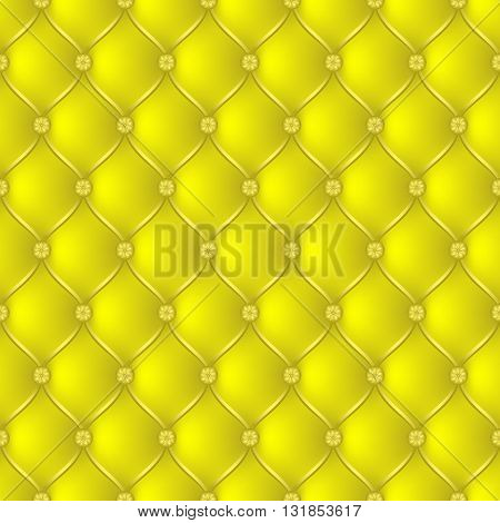Vector abstract upholstery yellow background. Can be used in cover design book design website background CD cover advertising.