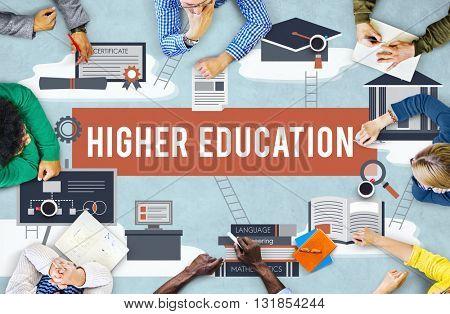 Higher Education Academic Bachelor Financial Aid Concept