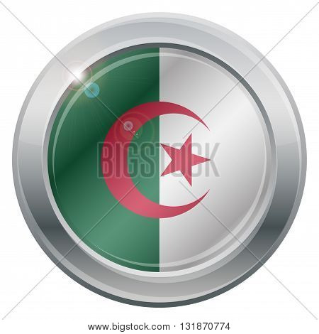 Algeria Flag Silver Icon