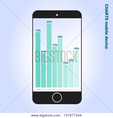 Mobile Infographic design on white background,vector
