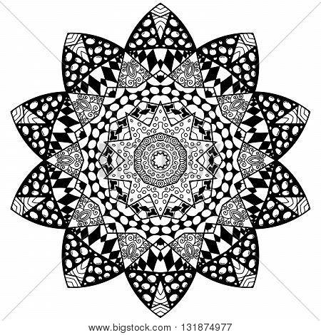 Black Flourish Mandala