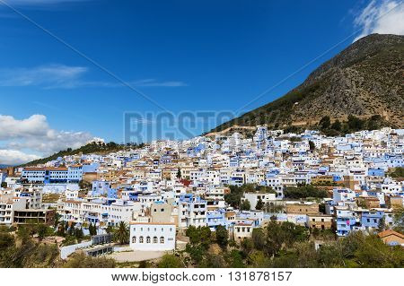 View of the town of Chefchaouen in Morocco