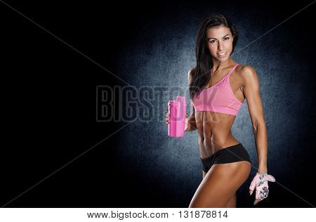 Healthy Young Sexy Woman With Perfect Fitness Body
