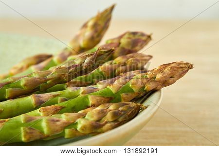 A bunch of fresh asparagus, close up
