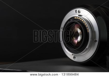 Digital Camera lens close up. photographic and photographer life concept.