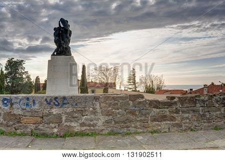 War memorial in St. Giusto hill Trieste - Italy