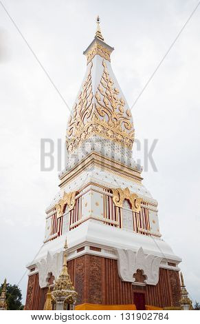 Phra That Phanom pagoda in Wat Phra That Phanom Nakhon Phanom Thailand, stock photo