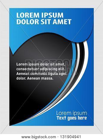 modern trendy flyer. presentation of flyer design content background