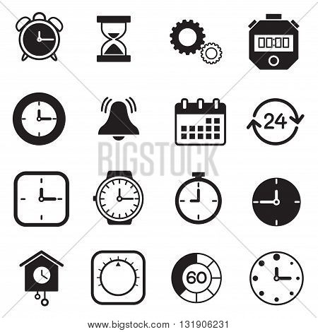 timer watch and Clock icons graphic design collection
