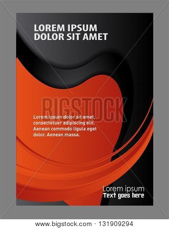 Vector Flyer Poster Template background. Professional business background template