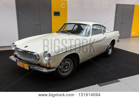 Cracow Poland - May 21 2016: Volvo 1800 S Displayed At 3rd Edition Of Moto Show In Krakow. Poland.ex