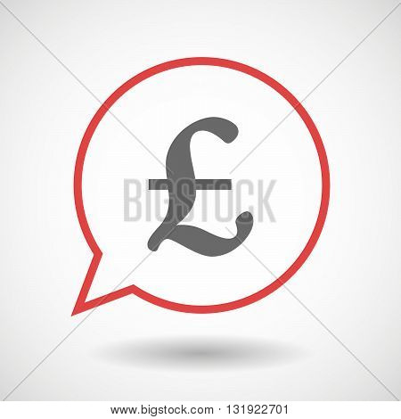 Isolated Line Art Comic Balloon With A Pound Sign
