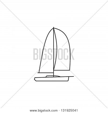 Sailing ships icon. Sailing  boat in line style.
