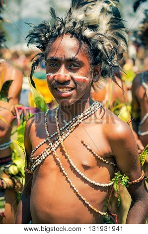 Smiling Boy In Papua New Guinea
