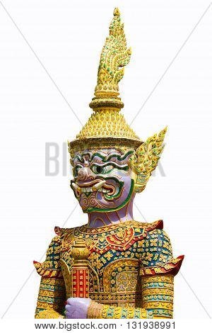 Giant of thai temple on the white background,Giant haed.