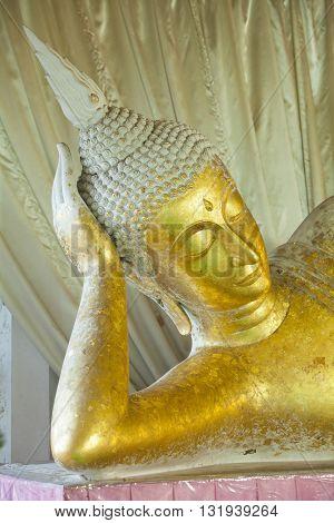 Buddha statues Face of gold buddha Thailand Asia