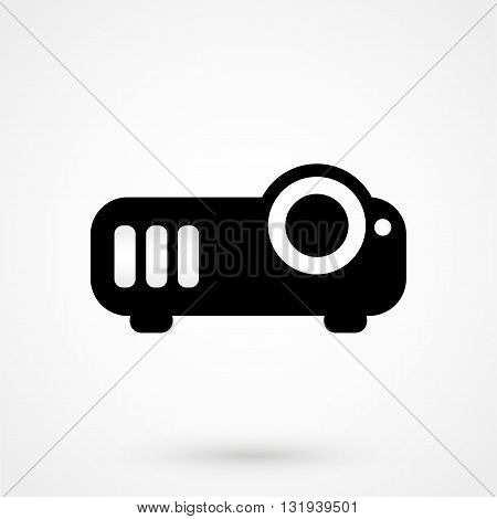Projector Icon Black Vector On White Background