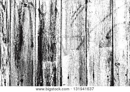 Distress Wooden Overlay Background. Grunge Wooden Planks Texture. Retro Rustic Dirty Wooden Planked Texture.