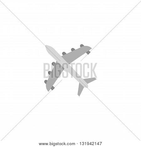 flying plane icon, air plane, flat design