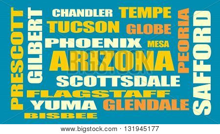 image relative to usa travel arizona state cities list