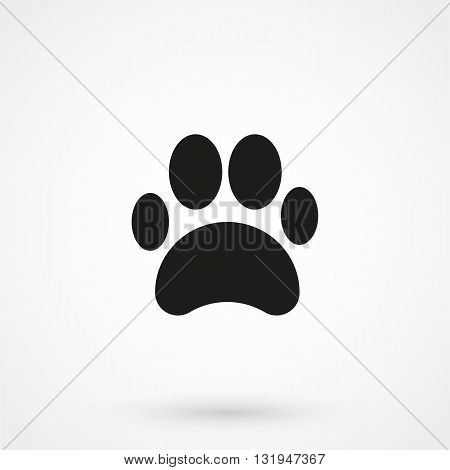 Cat Paw Icon Black Vector On White Background