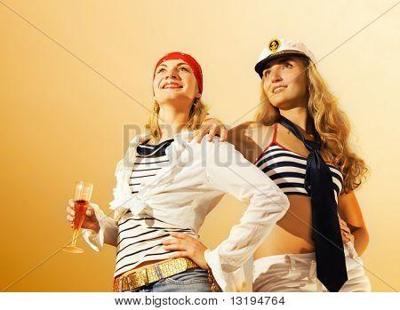 Beautiful ship crew