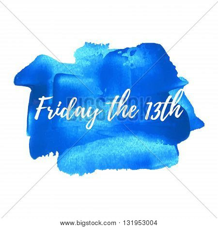 Friday The 13Th, Friday The Thirteenth Vector Card, Poster, Logo, Illustration, Lettering, Words, Te