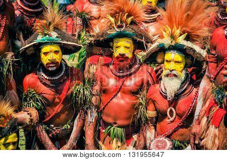 Three Men In Papua New Guinea