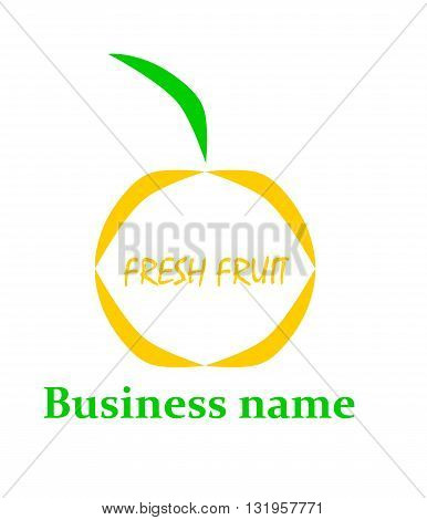 Business fruit logo - modern vector illustration.