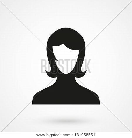 Female User Account Or User Profile Icon