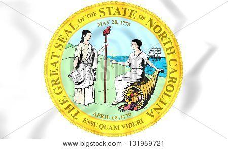 State Seal Of North Carolina, Usa.