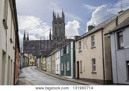 beautiful residential street scene in kilkenny city ireland