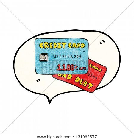 freehand speech bubble textured cartoon credit cards