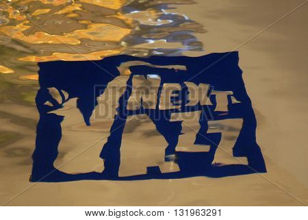 ANKARA/TURKEY-MAY 28, 2016: Next Jazz Logo in the pool of Next Level AVM during the 20th International Ankara Jazz Festival. May 28, 2016-Ankara/Turkey